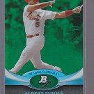 ALBERT PUJOLS ST LOUIS CARDINALS 2011 Platinum Green/Emerald Platinum