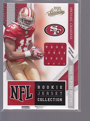 2009 Playoff Absolute #10 Michael CRABTREE Jersey RC SP San Francisco