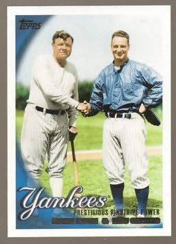 New York YANKEES 2010 Topps series 2 =  10 card team set ,Ruth,Jeter,Gehrig,Cano