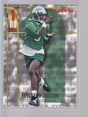 Keyshawn Johnson ROOKIE Card RC Jets 1996 Fleer   (STKft57)