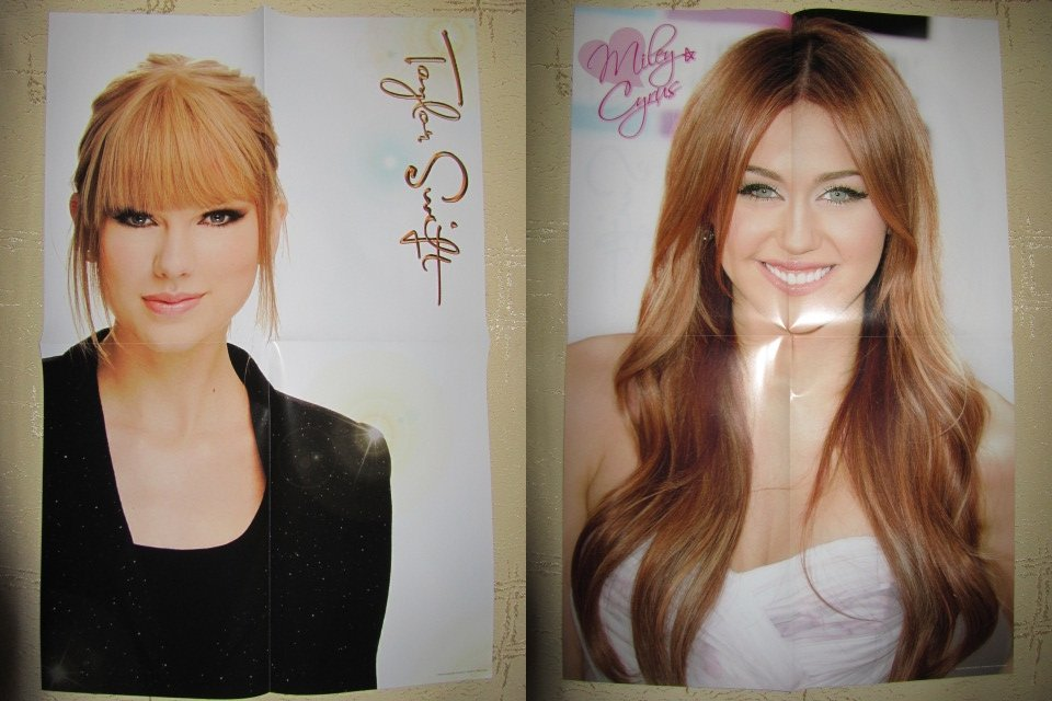 Taylor Swift / Miley Cyrus poster