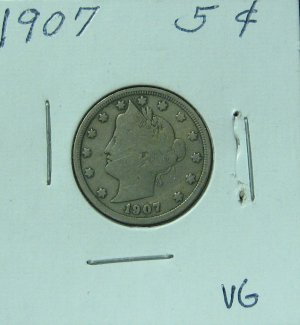 1907 Liberty Nickel, #1014