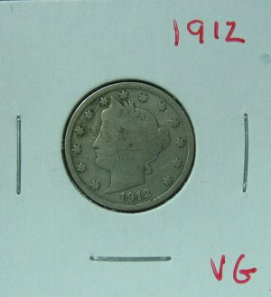 1912 Liberty Nickel,  #2524