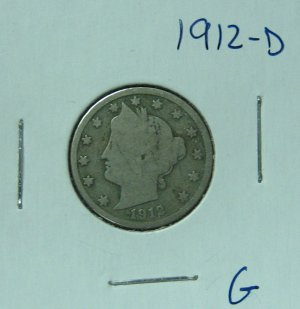 1912-D Liberty Nickel, #2518