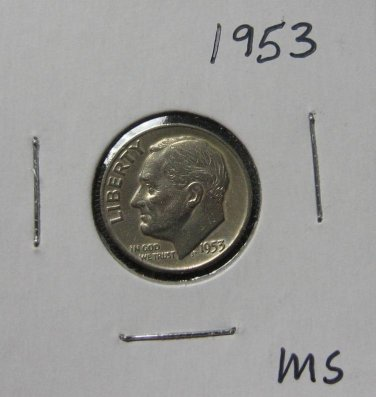 1953 Roosevelt Silver Dime, #2354
