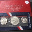 1976 3 Pc Silver Uncirculated Set