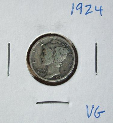 1924  Mercury Dime, #3076