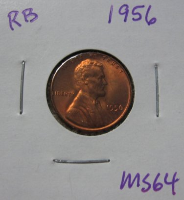1956 BU Lincoln Wheat Cent, #3378