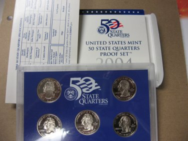 2004 Proof Quarter Set, #3408