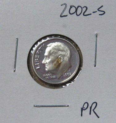 2002-S Proof Roosevelt Dime, #2412