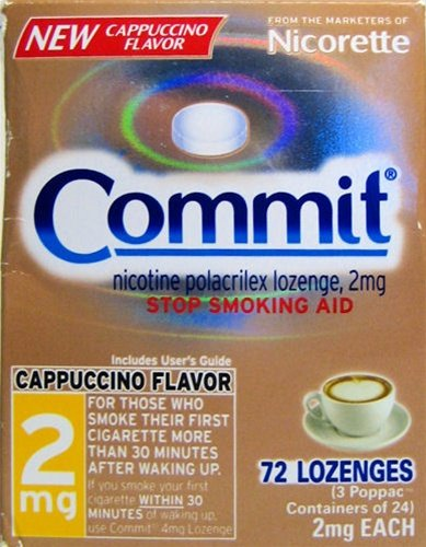 Commit Lozenges 72 Piece 2mg CAPPUCCINO 2011!