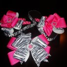 zebra/ pink ribbon wrapped flip flops
