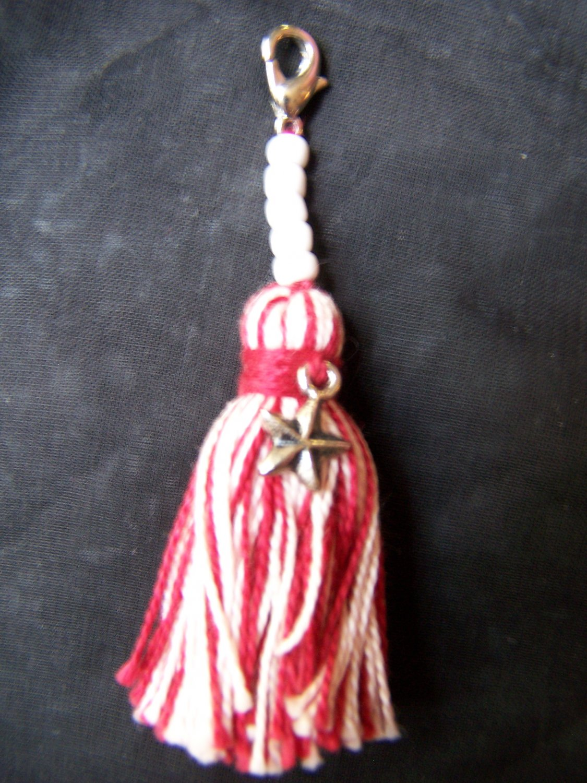 Red & White Tassel