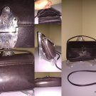 Enzo Angiolini dark brown leather crossbody bag
