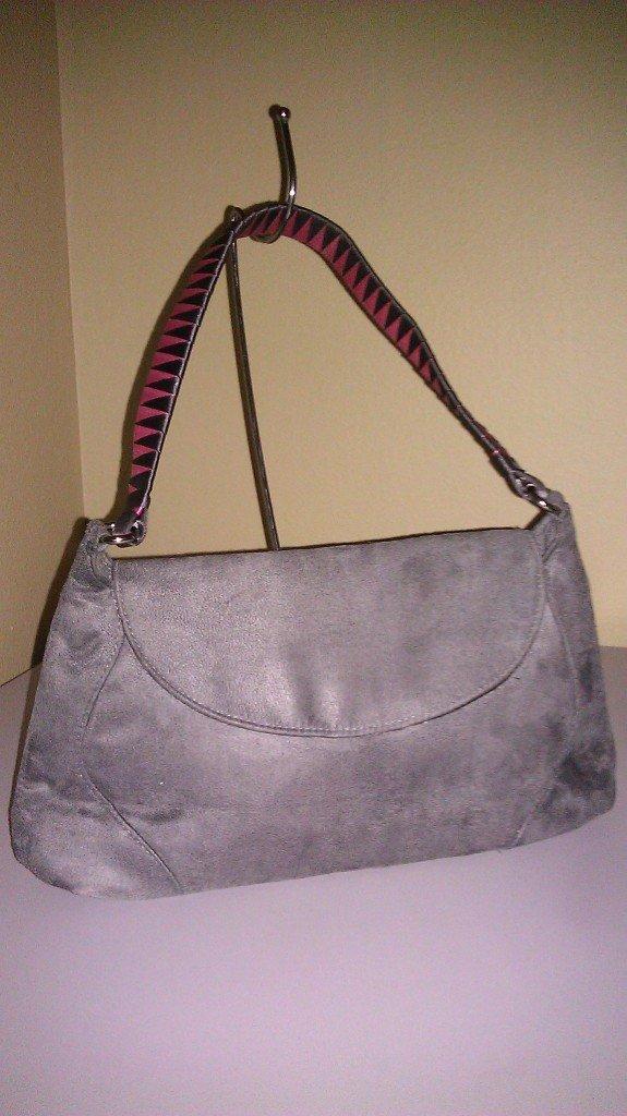 Victoria's Secret Sim Suede Gray Handbag