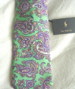 NWT RALPH LAUREN POLO MEN'S SILK NECKTIE RARE