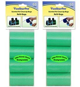 420 GREEN Dog Waste Bags - Cored Refills