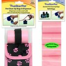 Pink Paw Dispenser + 315  Waste Bags