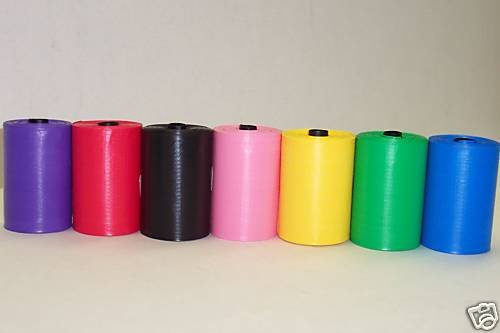 119 Rainbow Dog Waste Bags - Cored Refills