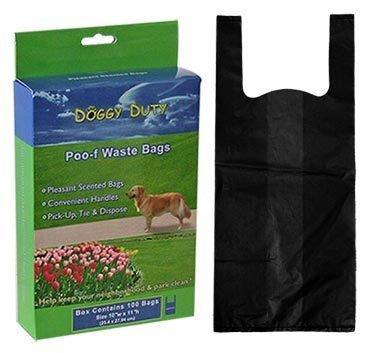 1000 Black Waste Bags w/Handles