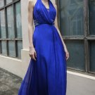 Sexy V-neck Blue Evening Dress