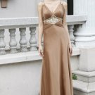 Sexy V-neck Champagne Evening dress