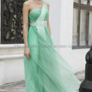 One Shoulder Green Prom Dress Formal Evening Dress