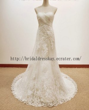 A line Lace Bridal Dress