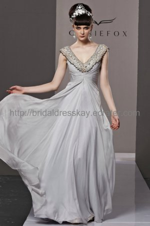 V-neck v-back Prom Dress 2012 Evening Dress