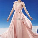 V-neck v-back Pink Evening Dress Prom Dress 2012
