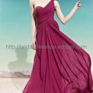 One shoulder Red Evening Party Dress
