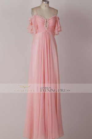 Sexy Off shoulder Pink Evening Dress Formal Party Dress