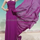 One Shoulder Purple Evening Party Dress