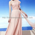One shoulder Pink Prom Dress Evening Party Dress