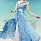 One Shoulder Blue Evening Dress 2012