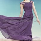 Elegant Purple Mother Dress Modest Evening Dress