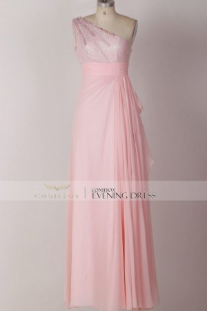 Pink Prom Dress Simple Evening Dress