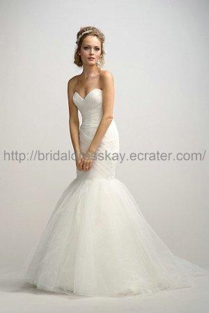 Mermaid White Wedding Dress 2013