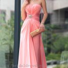 Pink Empire Prom Dress Evening Party Dress Bridesmaid Dress