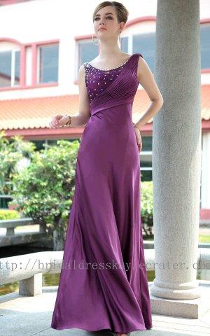 Floor Length Purple Ball Dress Evening Party Dress Bridesmaid Dress Prom Dress