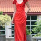 Cap Sleeve Red Evening Dress Prom Ball Party Gown Bridesmaid Dress