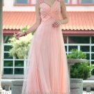 Floor Length Pink Evening Dress Prom Ball Party Gown Bridesmaid Dress