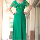 Modest Green 2013 Fashion Evening Dress Prom Ball Party Gown