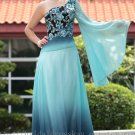 Sexy Floor Length One Sleeve Evening Dress Prom Party Gown