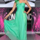 One Shoulder Green Prom Dress Evening Wedding Party Dress