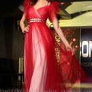 Sweetheart Red Tulle Prom Dress Evening Wedding Party Dress