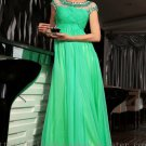 Floor Length Green 2013 Prom Dress Evening Wedding Party Dress