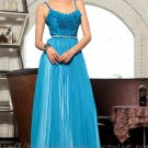 Straps Blue Prom Dress Evening Wedding Party Bridesmaid Dress