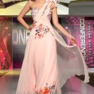 One Shoulder Pink Evening Party Prom Dress