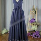 One shoulder Blue Formal Evening Prom Party Bridesmaid Dress